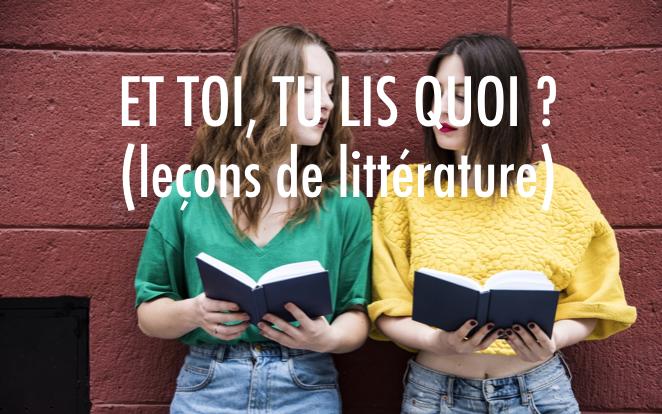 sélection janv 2019 - Leçons de littérature