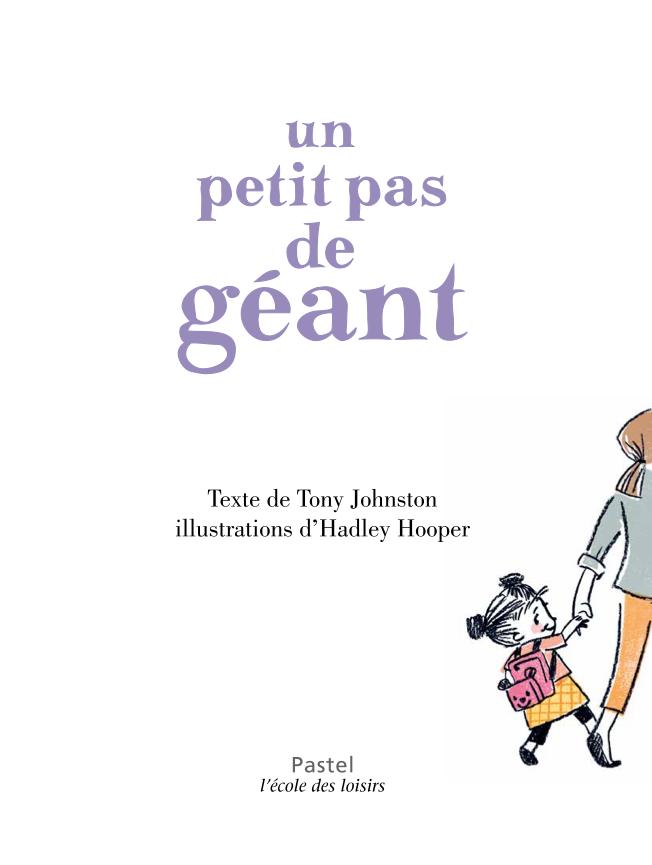 Un petit pas de géant de Tony Johnston