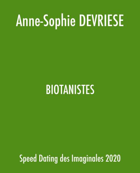 Biotanistes de Anne-Sophie Devriese